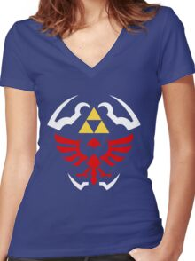 Hylian Shield - Legend of Zelda Women's Fitted V-Neck T-Shirt