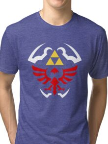 Hylian Shield - Legend of Zelda Tri-blend T-Shirt