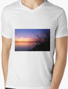 Italian Sunset Mens V-Neck T-Shirt
