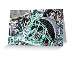 Nets, Rubber and Chain Greeting Card