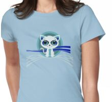 Kitten - Blue Womens Fitted T-Shirt