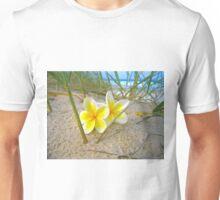 Frangipani Beach. Unisex T-Shirt