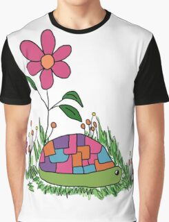 Turtle In the Flowers Graphic T-Shirt