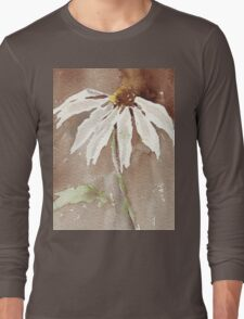 Sepia Daisy Long Sleeve T-Shirt