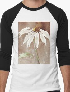 Sepia Daisy Men's Baseball ¾ T-Shirt