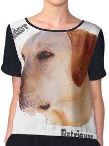 Dog breeds - Labrador Retriever Chiffon Top