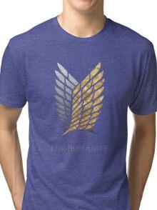 Survey Corps - Gold Silver Tri-blend T-Shirt