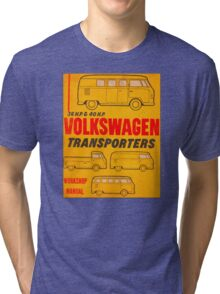 Volkswagen Kombi Workshop Manual Tri-blend T-Shirt