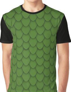 Green Dragon Scales Graphic T-Shirt