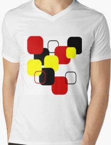 Geometric Abstract Mens V-Neck T-Shirt