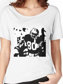 Jerry Rice black and white Women's Relaxed Fit T-Shirt