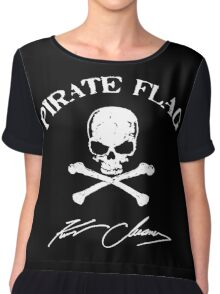 kenny chesney pirate flag logo Women's Chiffon Top