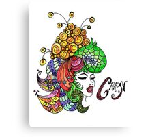 Crazy Colourful Hair Day Canvas Print
