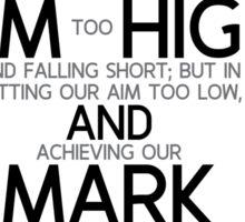aim high and mark - michelangelo Sticker