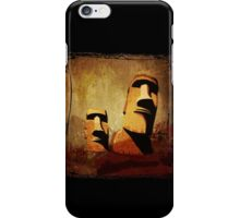 Easter Island Moai Heads iPhone Case/Skin