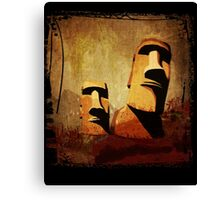 Easter Island Moai Heads Canvas Print