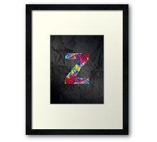 Fun Letter - Z Framed Print