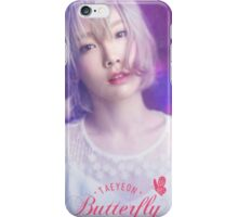 taeyeon butterfly kiss poster iPhone Case/Skin