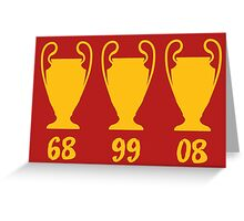 Manchester United - Champions League winning years Greeting Card