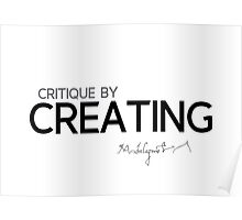 critique by creating - michelangelo Poster