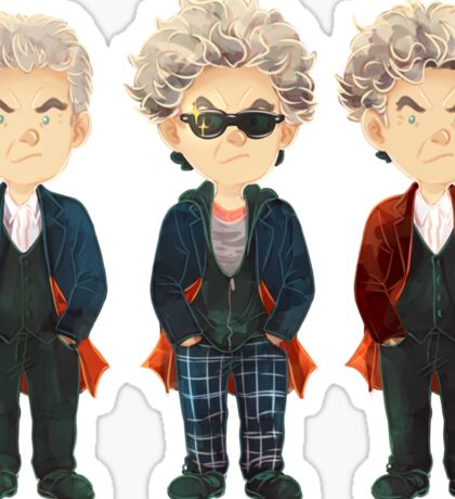 Doctor Who - 12th Doctor outfits Sticker