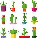 Funny Cactus  by Tatiakost