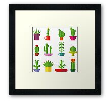 Funny Cactus  Framed Print