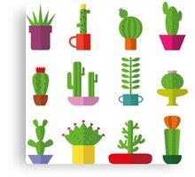 Funny Cactus  Canvas Print