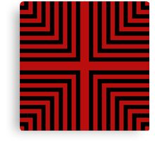 Red and black lines Canvas Print