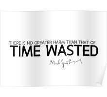time wasted - michelangelo Poster