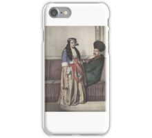 An Armenian couple in Istanbul at the early 19th Century.  Louis Dupré.  iPhone Case/Skin
