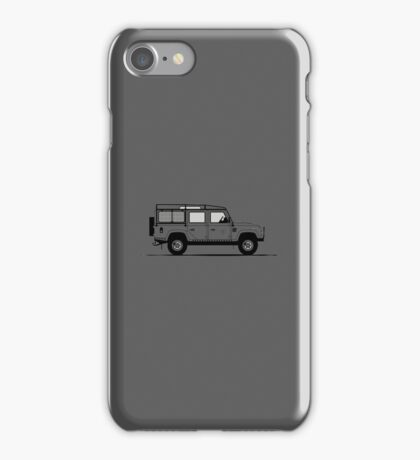 A Graphical Interpretation of the Defender 110 Station Wagon DMC iPhone Case/Skin