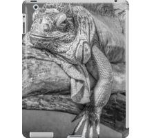 Lizard in black and white iPad Case/Skin