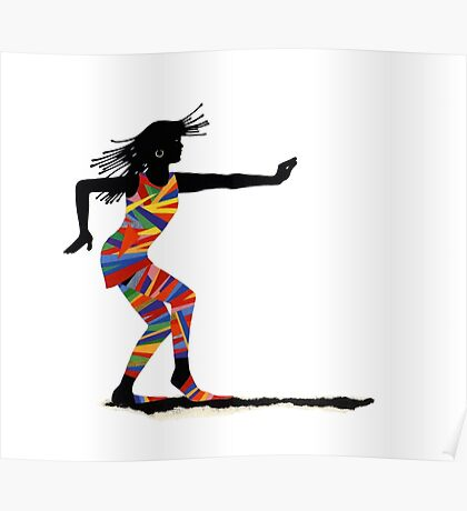 Funky Dancer Martial Art Poster