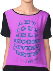 Be 'LIVING POETRY' by Rumi Chiffon Top