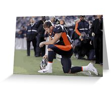 Tim Tebow tebowing Greeting Card