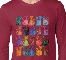 Geometricats - Bright Colours Long Sleeve T-Shirt