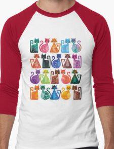 Geometricats - Bright Colours Men's Baseball ¾ T-Shirt
