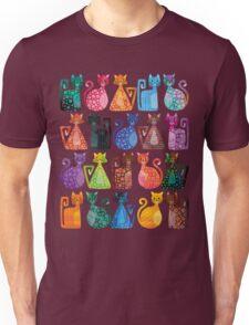 Geometricats - Bright Colours Unisex T-Shirt