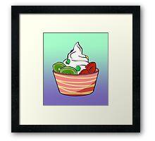 Frozen Yoghurt Framed Print