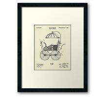 Child's Carriage-1896 Framed Print