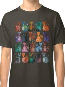 Geometricats - Dark Colours Classic T-Shirt