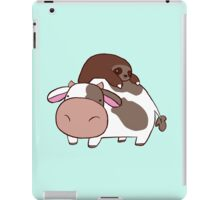 Sloth and Cow iPad Case/Skin