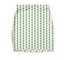 Broccoli Skirt Fun Cabbage Sticker Mini Skirt