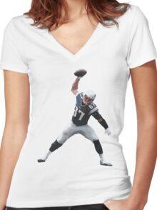 Rob Gronkowski Spike Women's Fitted V-Neck T-Shirt