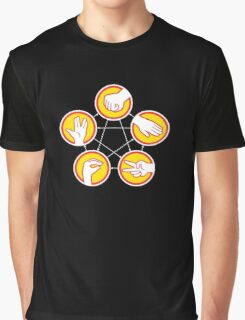 Rock Paper Scissors Lizard Spock - Yellow Variant Graphic T-Shirt