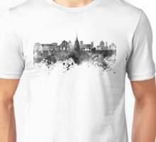 Turin skyline in black watercolor  Unisex T-Shirt