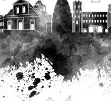 Turin skyline in black watercolor  Sticker
