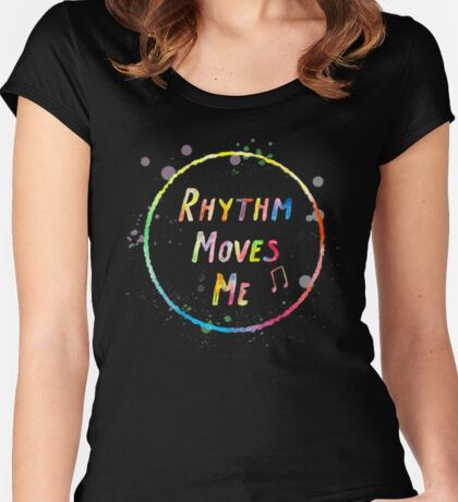 Rhythm Moves Me Women's Fitted Scoop T-Shirt