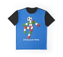 Italia 90 World Cup Ciao Mascotte and write (A) Graphic T-Shirt
